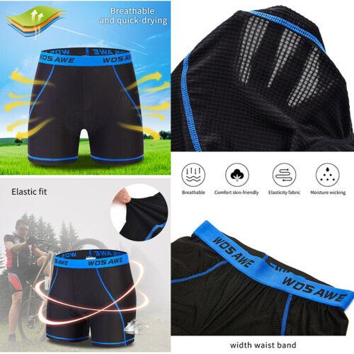5D Gel Padded Bicycle Underwear Men Women Cycling Shorts MTB Bike Pants Shorts