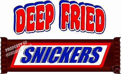 "Deep Fried Snickers Concession Food Truck Candy Decal 14"" Vinyl Sticker Sign"