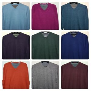 Men-s-New-John-Rocha-Designer-Pure-Cotton-V-Neck-Jumper-Sizes-S-to-4XL-Sweater