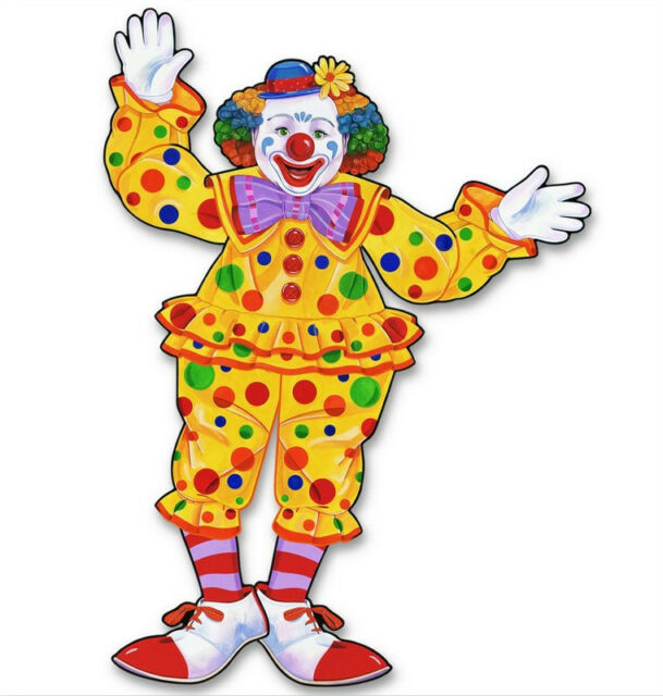 30 inch Jointed Circus Clown Cutout - 55020