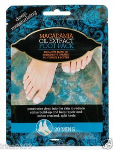 Macadamia-Oil-Pedicure-Moisturisisng-Socks-Extract-Foot-Pack-Two-Booties