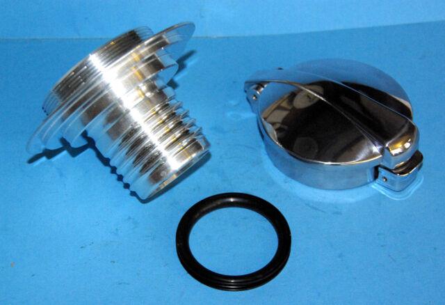 Großer Monza Tankdeckel mit Adapter für BMW R80 R100 S RT RS Cafe Racer optik