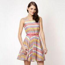 Debenhams Designer grey neon striped skater dress 16
