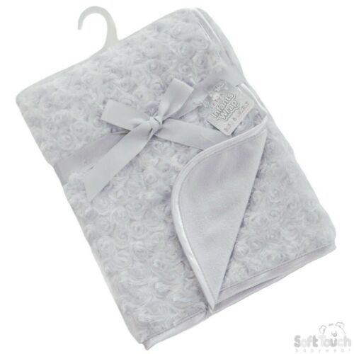 Personalised Baby rose bud  Blanket Boy Girl Gift stars design new 2019