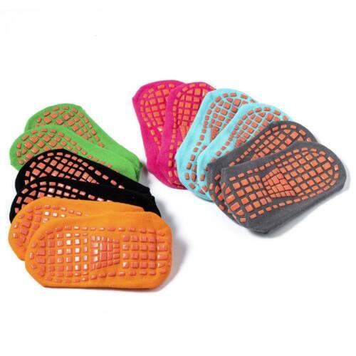 1Pair Yoga Socks Non Slip Skid Grips Pilates Fitness Ballet Exercise Floor Socks