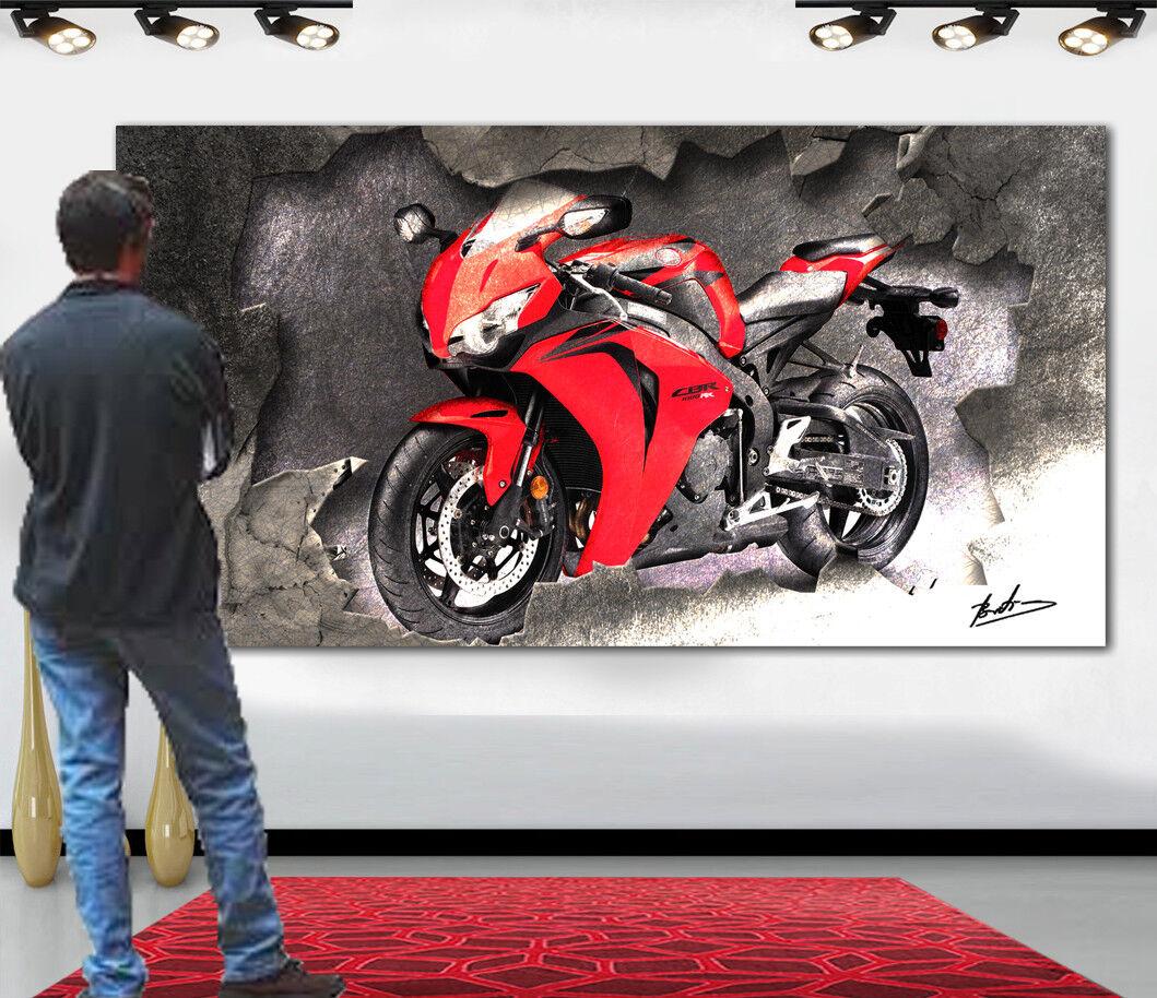 Leinwand Bilder HONDA CBR 1000 RR Motorrad Deko Kunst Wandbild Kunstdruck 1543A
