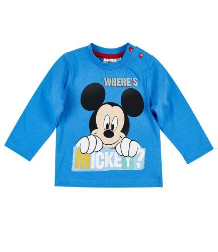 62-92 Disney Mickey Langarmshirt Baby Babies  Kinder weiß Gr