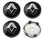 Schwarz-4-x-60mm-Renault-Chrome-Alufelge-Nabenkappen-Nabendeckel-Satz Indexbild 1