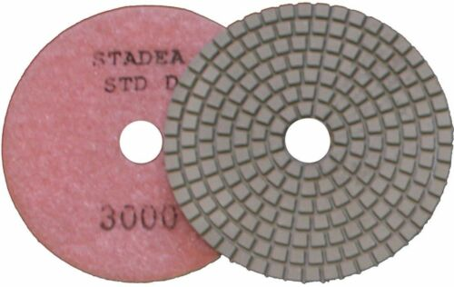 "STADEA 4/"" Diamond Polishing Pads Set Wet//Dry for Granite Concrete Marble Grinder"