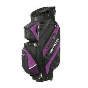 Benross Pro Cart Golf Bag in Black/Purple 3 Year Warranty Brand New Boxed *Sale*