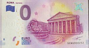 BILLET-0-EURO-ROMA-PANTHEON-ITALIE-2017-N-PALINDROME-252