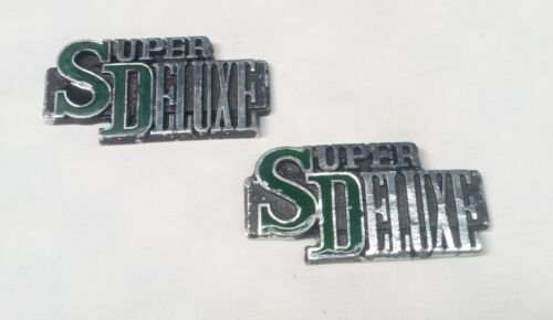 MAZDA RX3 808 SAVANNA 10A 12A ROTARY SUPER DELUXE BADGE BADGES PAIR GREEN