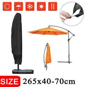 265cm-Impermeable-Parasol-Banane-Housse-Couverture-Bouclier-Cantilever-Patio