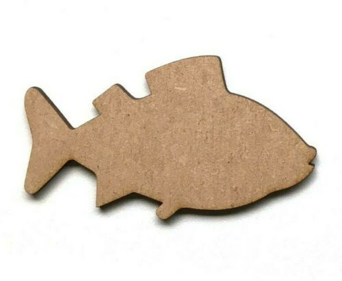 Wooden MDF Fish Shape Craft Embellishment Decoration Shapes Plaques