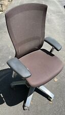 Knoll Life Ergonomic Task Office Chair Dark Brown Polished Aluminum