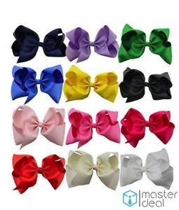 """12pcs 2.5/"""" Boutique Hair bows Baby Infant Girls Handmade Alligator clips"""