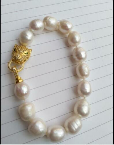 NEW HOT HUGE AAA 11-13mm south sea white baroque pearl bracelet 7.5-8 inch
