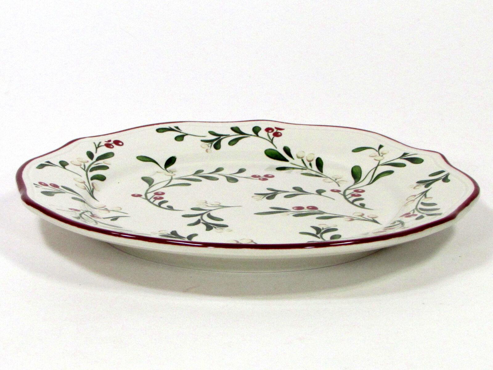 Better Homes and Gardens MISTLETOE MISTLETOE MISTLETOE 8.75  Salad Plate Set 4Pc Heritage Collection 0ab287
