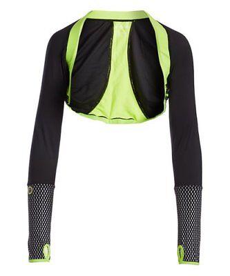 MOXIE Cycling Rio Century Bright Blue Reflective Bolero Crop Jacket