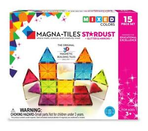 Magna-Tiles-15-Piece-Stardust-Set-Magnetic-Building-Creativity-amp-Educational
