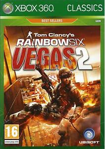 RAINBOW-SIX-VEGAS-2-for-Xbox-360-with-box-amp-manual