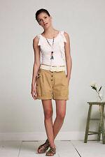 Anthropologie Terra Firma Shorts Sz 0, Linen Blend Casual Beige Shorts By Sunner