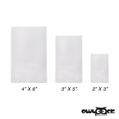 Storage Bag 500 3 Mil 9x12 Owlpack Clear Poly Open End Plastic Product