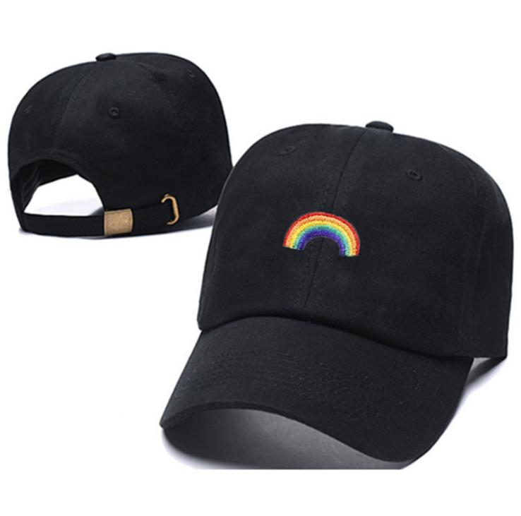 Unisex Herren Damen Hip pop Erwachsene Regenbogen Baseballkappe Cap Party