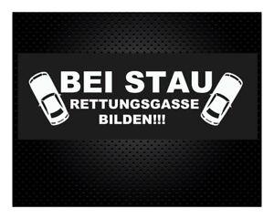 BEI-STAU-RETTUNGSGASSE-BILDEN-20-x-5cm-JDM-DUB-Sticker-Aufkleber-Autoaufkleber