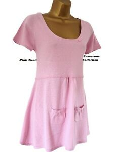 Ex-Mistral-PINK-Lightweight-Fine-Knit-Tunic-Long-Over-Top-szs-8-10-12-14-16