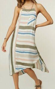 O-039-Neill-SORBET-Womens-Adjustable-Spaghetti-Strap-Dress-Small-Multi-Stripe-NEW
