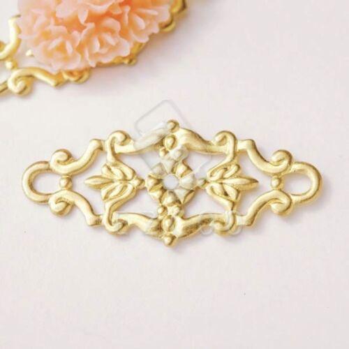 20pcs Filigree Metal Links Connector Craft Jewellery Making 27x12x0.5mm EBMB0563