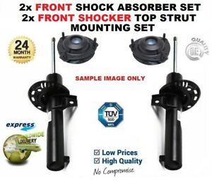 2x FRONT Shock Absorbers + Strut Tops for OPEL VIVARO Combi 1.9 DTI 2001->on