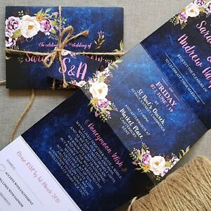 Personalised-Wedding-Invitations-Day-or-Evening-Invites-Inc-FREE-Envelopes