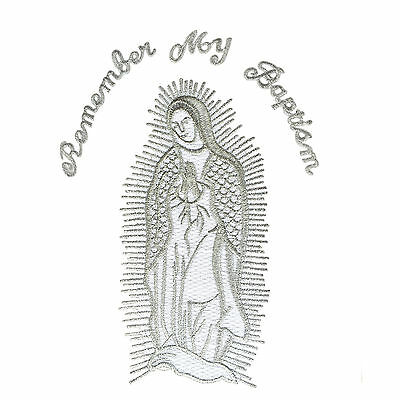 CF3849//50 Baptism Virgin Mary Embroidered Patch Applique Santa Maria Christening