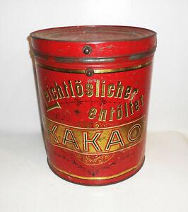 Grande-Envase-Lata-Leichtloslicher-Entolter-Cacao-Um-1910-Decoracion-Shabby-Loft