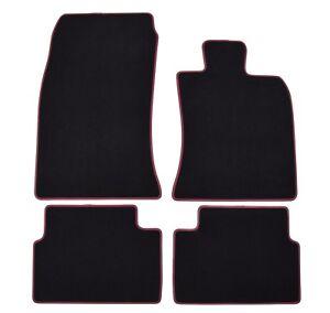 Original-MINI-Black-floor-Car-Mats-for-Mini-Clubman-R55-2007-2014-Burgundy-Edge