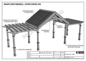 Image Is Loading GRAPE VINE OUTDOOR PERGOLA PATIO COVER VERANDA V4