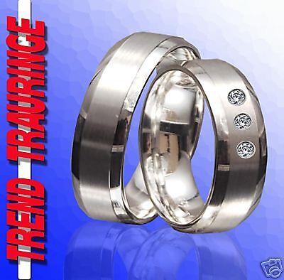 2 Silber Partnerringe Trauringe Verlobungsringe Eheringe & Gravur Gratis T25-31 KöStlich Im Geschmack