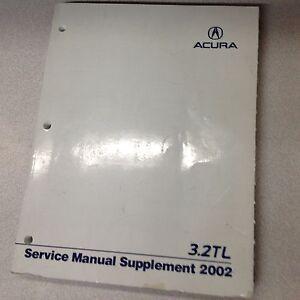 2002 acura 3 2tl 3 2 tl service shop repair workshop manual rh ebay com 2002 acura tl factory service manual 2002 acura tl type s owners manual
