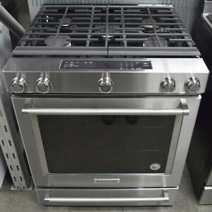 Stupendous Details About Kitchenaid Ksgg700Ess 30 Stainless Steel Slide In Gas Range Download Free Architecture Designs Embacsunscenecom