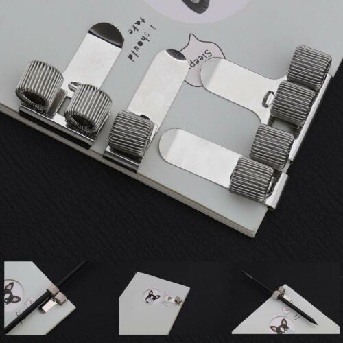 10x Stifte und Bleistiftklammern Stifthalter Clip für Notizbuch Zwischenablage