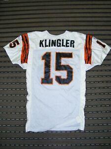 37b125a8 Details about 1992 David Klingler Game Used Cincinnati Bengals ROOKIE Jersey
