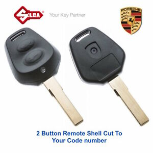 Details about PORSCHE Replacement 2 Button Remote Key Shell Cut To Your Key  Code -FREE POST