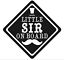 Baby Little Sir À Bord Autocollant Voiture Drôle Pare-Choc Autocollant Vinyle Voiture Fenêtre UK