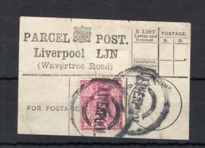 George-V-6d-utilise-sur-Parcel-Post-Label-Liverpool-The-Road