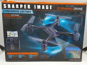 Sharper Image Dx 5 Video Streaming Stunt Drone 2302680 Like New