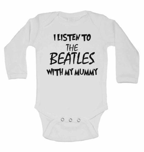 I Listen to the Beatles Englisch Rock Band Mit My Mummy Langärmlig Baby Westen