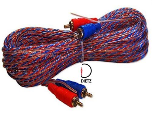 Dietz cinch cable 5m con tubería de forma remota para amplificadores etapa final cinch