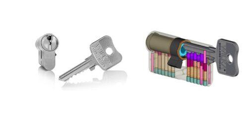 26//35 Wilka 1400 1463 NP Profile Cylinder Lock Cylinder Keyed Alike